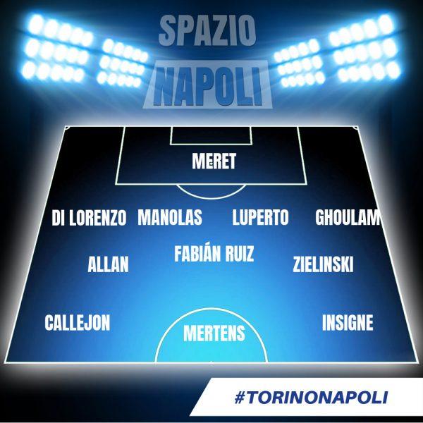 Probabile formazione Torino Napoli