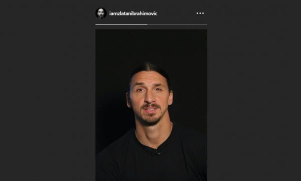 Ibrahimovic stories Instagram