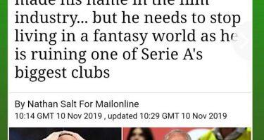"""FOTO – In Inghilterra criticano ferocemente De Laurentiis: """"La smetta di vivere in un mondo di fantasia, sta rovinando il Napoli"""""""
