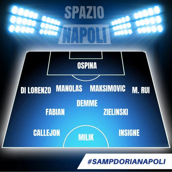 Sampdoria Napoli Le Probabili Formazioni Della Gazzetta Dello Sport Due Cambi Rispetto Alla Juventus