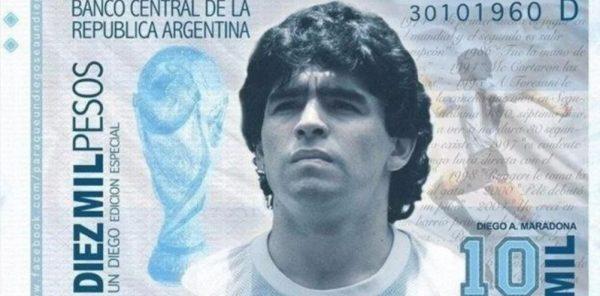 Maradona, in Argentina avanzata la proposta per una banconota da 1000 Pesos con la faccia del Pibe de Oro