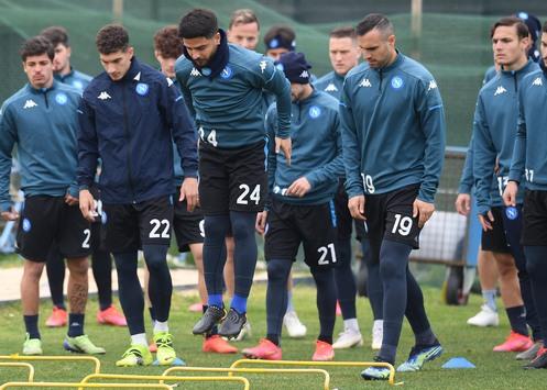 Napoli, report allenamento: prima parte in gruppo per Lozano. Solo ...
