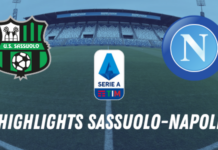 HIGHLIGHTS SASSUOLO NAPOLI