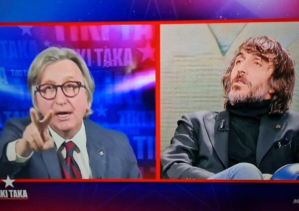 Volano parolacce in diretta TV: battibecco Cruciani-Auriemma a Tiki Taka