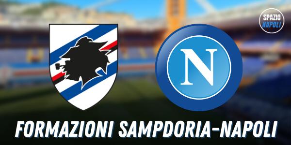 Formazioni ufficiali Sampdoria-Napoli: cinque cambi per Gattuso rispetto alla Juventus