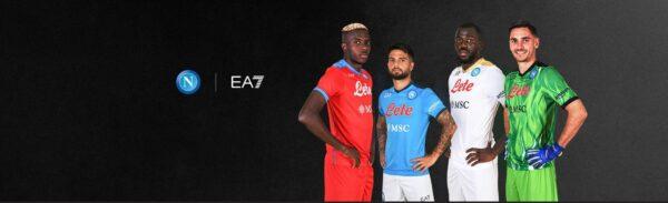 Nuovi capi SSC Napoli targati EA7: la maglia di un calciatore risulta la più venduta