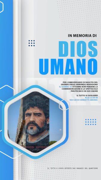 Napoli festeggia il compleanno di Maradona: sabato spettacolo pirotecnico al murales di Diego!