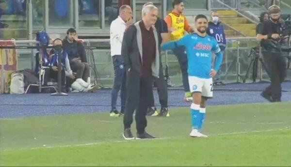 """Faccia a faccia con Insigne, Mourinho spiega: """"È un ragazzo simpatico, ma gli ho detto di non farlo"""""""