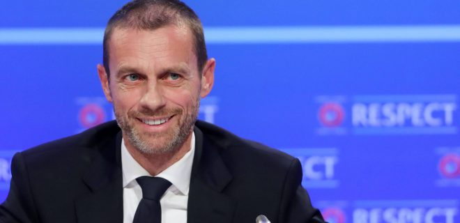 Aleksander Ceferin File Photo File photo dated 03-12-2018 of UEFA President Aleksander Ceferin during the UEFA Nations League Finals draw at the Shelbourne Hotel, Dublin. Issue date: Wednesday May 12, 2021. FILE PHOTO PUBLICATIONxINxGERxSUIxAUTxONLY Copyright: xNiallxCarsonx 59726215