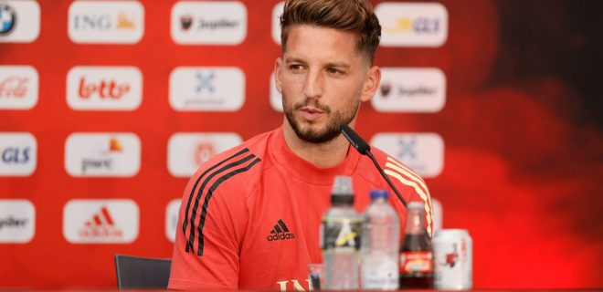 Belgium s Dries Mertens pictured during a press conference, PK, Pressekonferenz of the Belgian national soccer team Red Devils, in Tubize, Thursday 10 June 2021. The team is preparing for the upcoming Euro 2020 European Championship, EM, Europameisterschaft BRUNOxFAHY PUBLICATIONxINxGERxSUIxAUTxONLY x2832550x