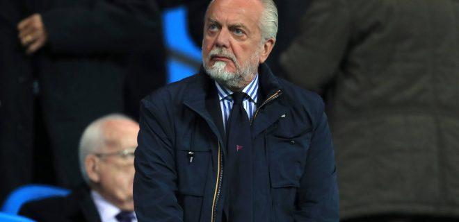 Manchester City v SSC Napoli - UEFA Champions League - Group F - Etihad Stadium Napoli s chairman Aurelio De Laurentiis PUBLICATIONxINxGERxSUIxAUTxONLY Copyright: xMikexEgertonx 33335166
