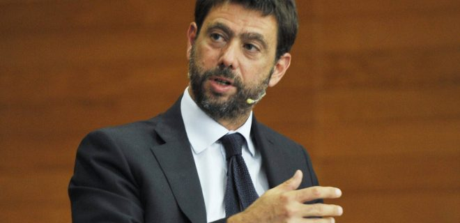 Milan, Italy ARCHIVE Andrea Agnelli and Steven Zhang during a conference on sports issues at Bocconi in Milan In the photo: Andrea Agnelli PUBLICATIONxINxGERxAUTxONLY Copyright: xNickxZonnax/xIPAx/xNickxZonnax